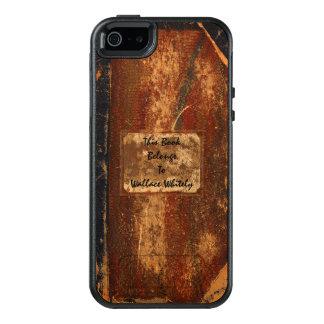 Altes getragenes heraus Schmutz-Text-Buch OtterBox iPhone 5/5s/SE Hülle