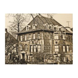 Altes Haus Holzleinwand