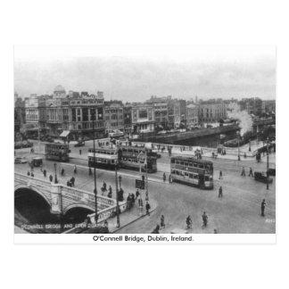 Altes Irland, Dreißigerjahre O'Connell-Brücke, Postkarte