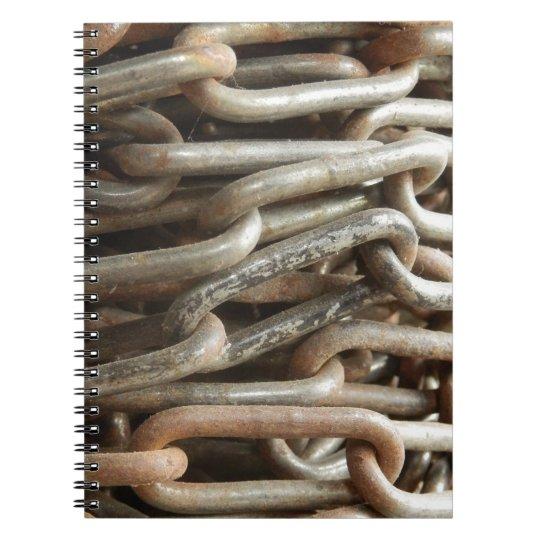 Altes KettenFoto-Notizbuch Spiral Notizblock