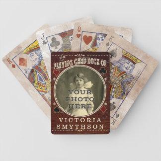 Altes kundenspezifisches WestFoto-personalisiertes Bicycle Spielkarten