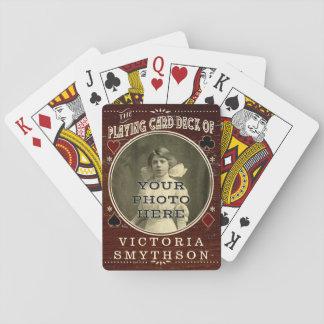 Altes kundenspezifisches WestFoto-personalisiertes Spielkarten
