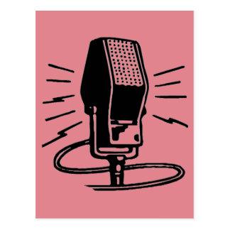 Altes Mikrofon Postkarte