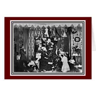 Altes Mode-Weihnachten Karte