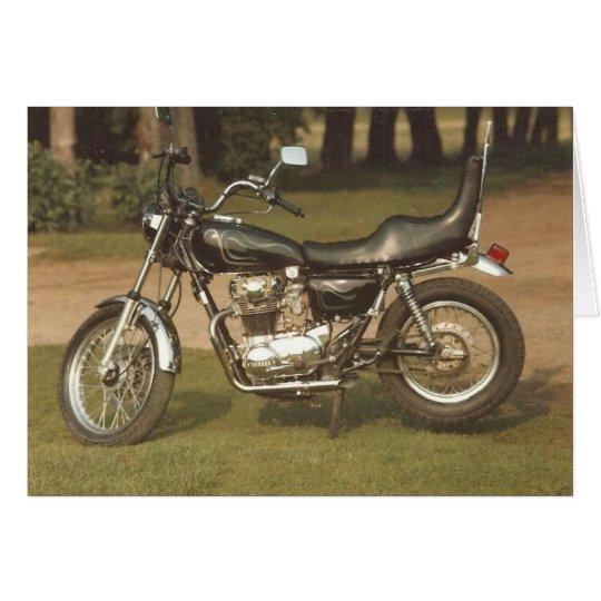 Altes Motorrad: Leere Karten