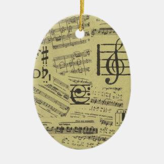 Altes Musik-Papier 2 Keramik Ornament