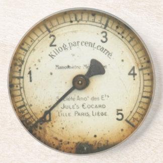 altes Öldruckmessgerät/-instrument/-skala/-meter Getränkeuntersetzer