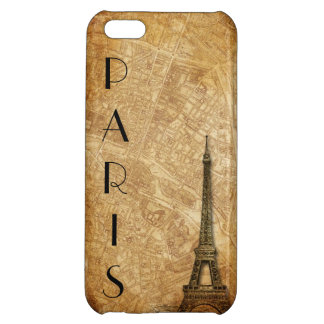 Altes Pariskarte und -Eiffelturm iPhone 5 Fall iPhone 5C Hüllen
