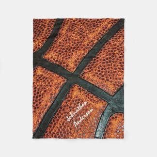 Altes Retro Basketball-Muster mit signiertem Namen Fleecedecke