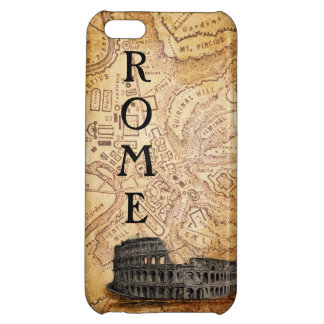 Altes Rom Karte und Colosseum iPhone 5 Fall iPhone 5C Hülle