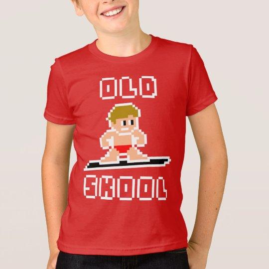 Altes surfendes Skool (blasser Mann, WEISS) T-Shirt