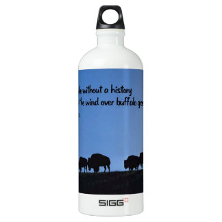 Altes Ureinwohnersprichwort Aluminiumwasserflasche