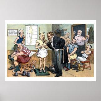 Altes Vintager politischer Cartoon Dr. Roosevelt 1 Plakatdrucke
