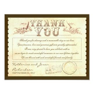 altes Vintages danken Ihnen Karten - Karten 10,8 X 14 Cm Einladungskarte