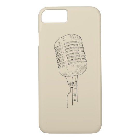 Altes Vintages Retro Mikrofon iPhone 7 Hülle