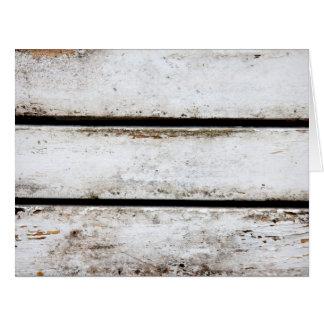 Altes weißes Holz Riesige Grußkarte