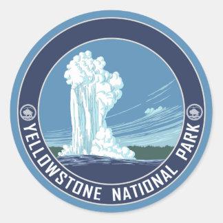 Altes zuverlässiges - Yellowstone Nationalpark Runder Aufkleber