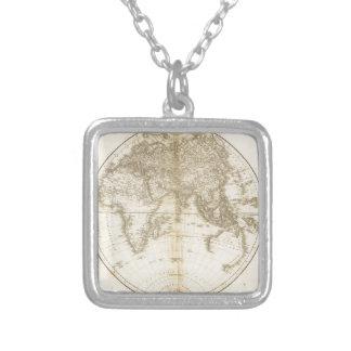 Älteste Karte der Welt Halskette Mit Quadratischem Anhänger