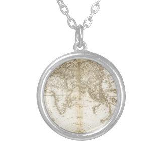 Älteste Karte der Welt Halskette Mit Rundem Anhänger