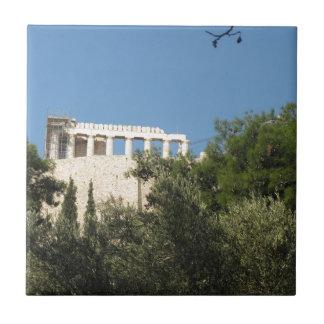 Altgriechischer Parthenon von fern Fliese