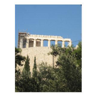 Altgriechischer Parthenon von fern Postkarte