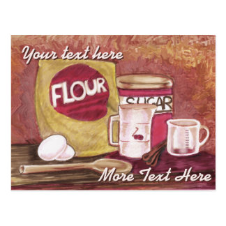 Altmodische Kochspostkarte Postkarte