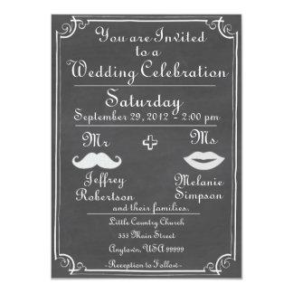 Altmodische Tafel-Hochzeits-Einladung Karte