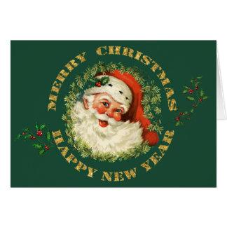 Altmodischer Weihnachtsmann Grußkarte