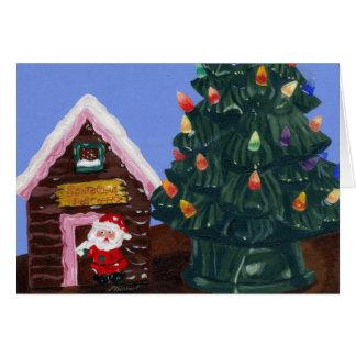 Altmodisches Weihnachten Grußkarte