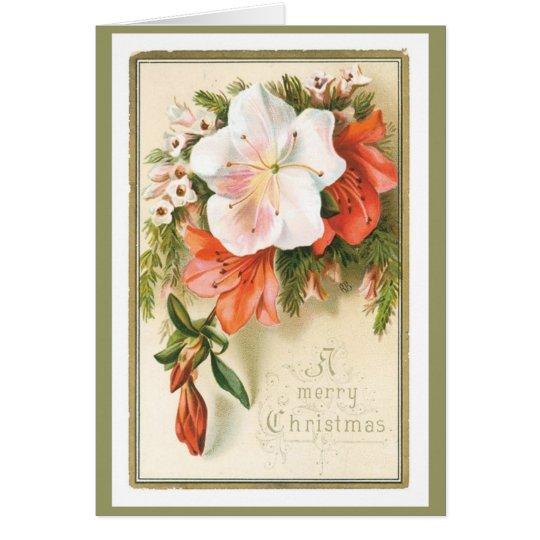 Altmodisches WeihnachtsVintage Feiertags-Freude Grußkarte
