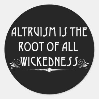 Altruismus ist böse Aufkleber