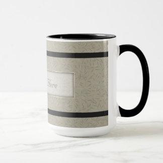 Aluminiumgrau prägeartige Blatt-Reben Tasse