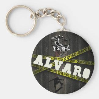 ALVARO - Skater Style Standard Runder Schlüsselanhänger