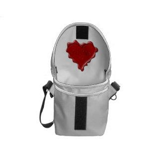 Alyssa. Rotes Herzwachs-Siegel mit NamensAlyssa Kurier Taschen