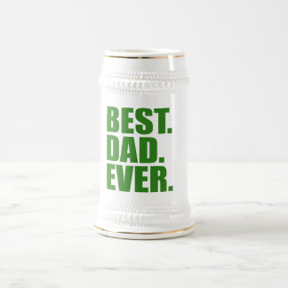 Am besten. Vati. Überhaupt. (Grün) Bierglas
