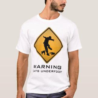 Am Boden WARNEN, Katzen T-Shirt
