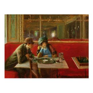 Am Café Postkarte