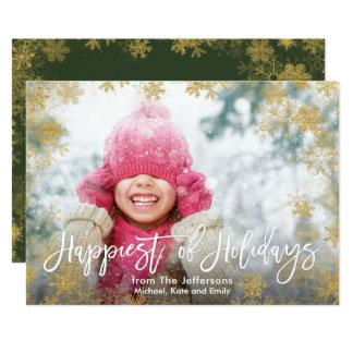 Am glücklichsten vom Feiertags-vollen BlutFoto Karte