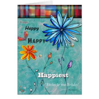Am glücklichsten von der Geburtstags-Spaß-alles- Karte