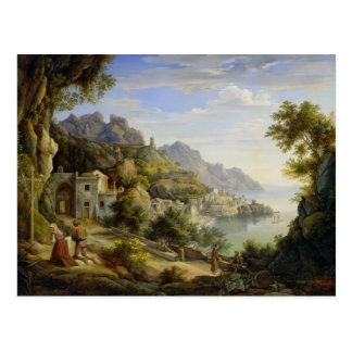 Am Golf von Salerno, 1826 Postkarte
