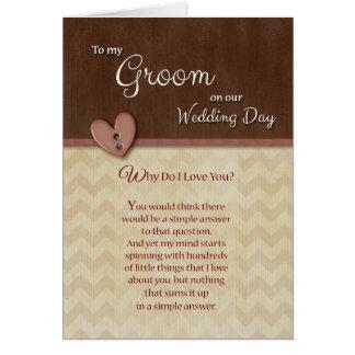 Am Hochzeits-Tag, zum zu pflegen, warum i-Liebe Grußkarte
