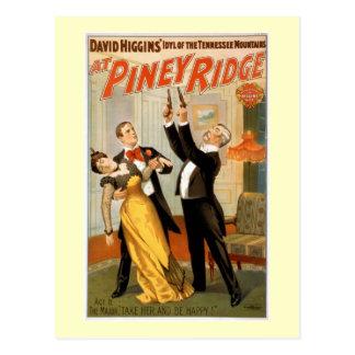 Am Piney Vintagen Theater-Plakat Ridges Postkarte