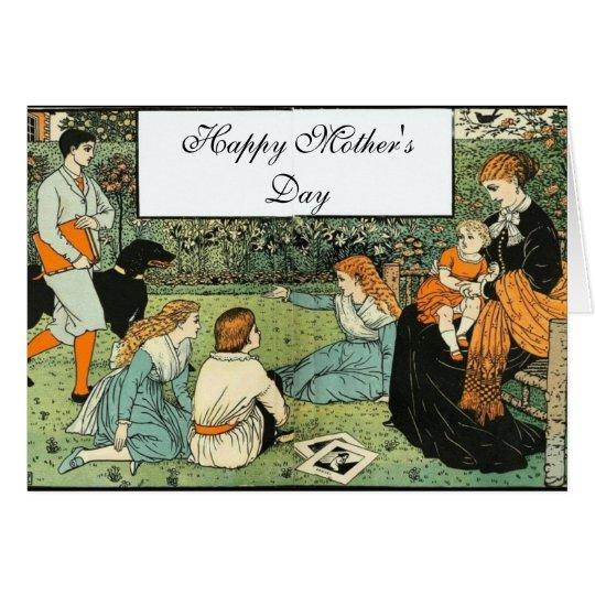 Am Tag der Garten-Mutter Grußkarte