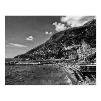 Amalfi-Küsten-Schwarz-und Fotografie-Postkarte Postkarte