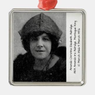Amanda Christina Elizabeth Aldridge Silbernes Ornament