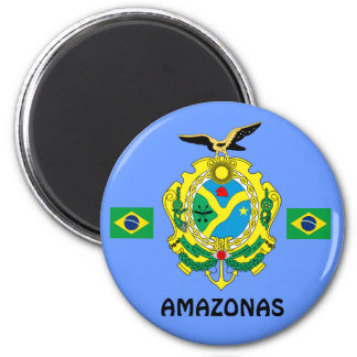 Amazonas, Brasilien-Staats-Magnet Imå DAS Amazonas Runder Magnet 5,1 Cm