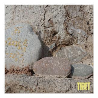 Amdo tibetanische buddhistische Mani Steine Poster