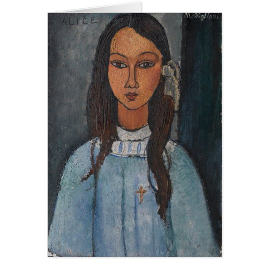 Amedeo Modigliani - Alice Grußkarte
