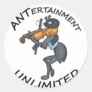 AMEISE Unterhaltung unbegrenzt, Geige spielend Runder Aufkleber