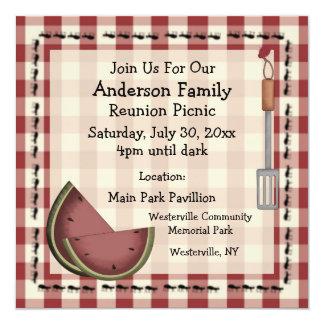 Ameisen und Wassermelone-Sommer-Picknick-Einladung Karte
